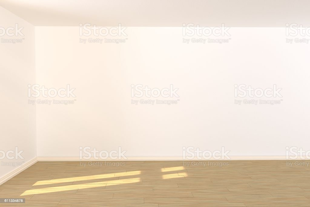 empty room with light incidence stock photo