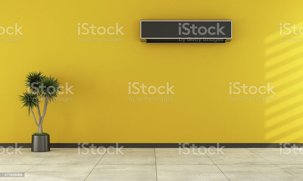 Empty room with modern air conditioner royalty-free stock photo