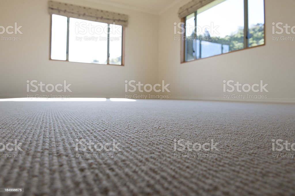 empty room with new carper royalty-free stock photo