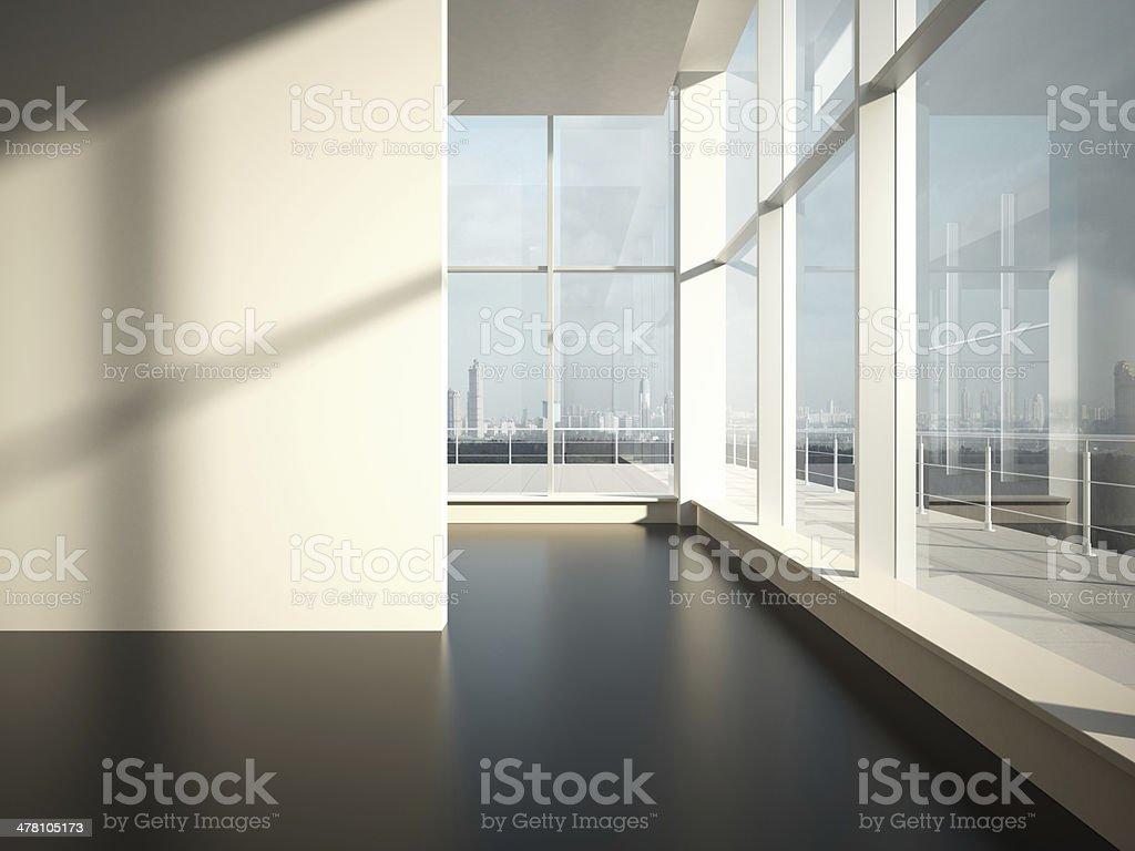 Empty room with sun light royalty-free stock photo
