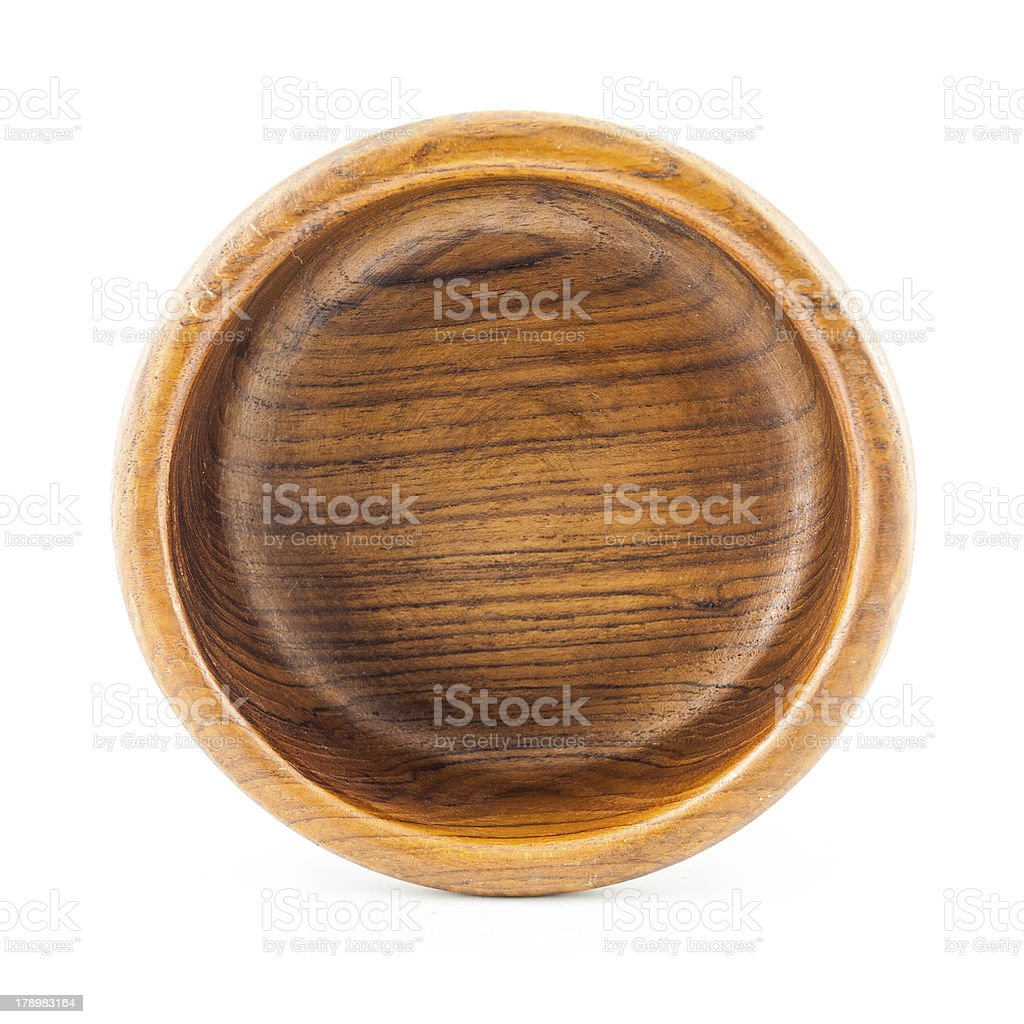 Empty round wood Box royalty-free stock photo