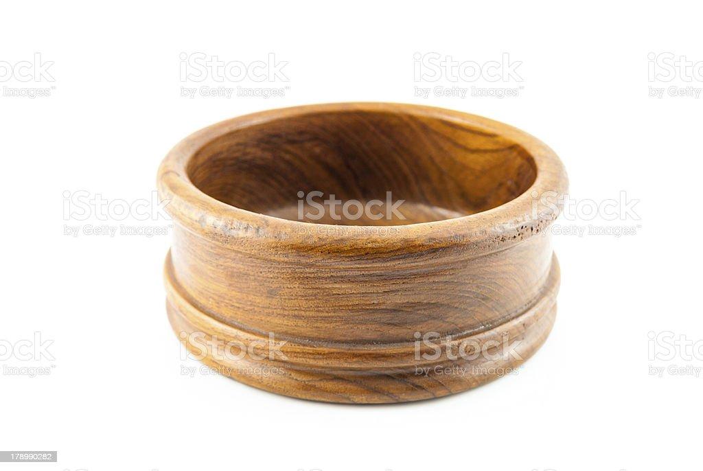 Empty round wood Box royalty-free stock photo