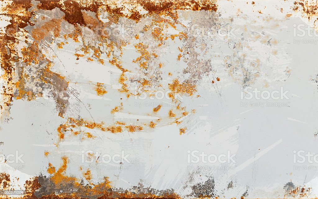 Empty rusted metal sheet background texture stock photo