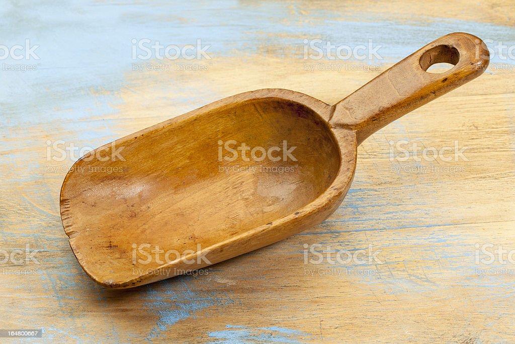 empty rustic scoop royalty-free stock photo