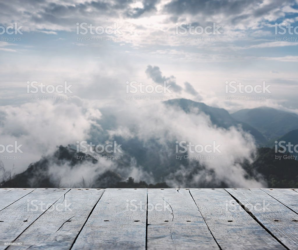 empty rustic wooden table stock photo
