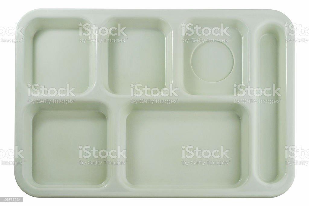 Empty School Lunch Tray royalty-free stock photo
