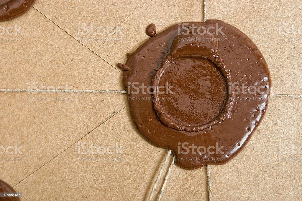 Empty sealing wax stamp stock photo