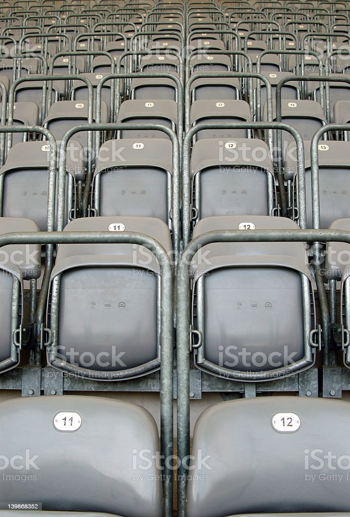empty seats 2 royalty-free stock photo