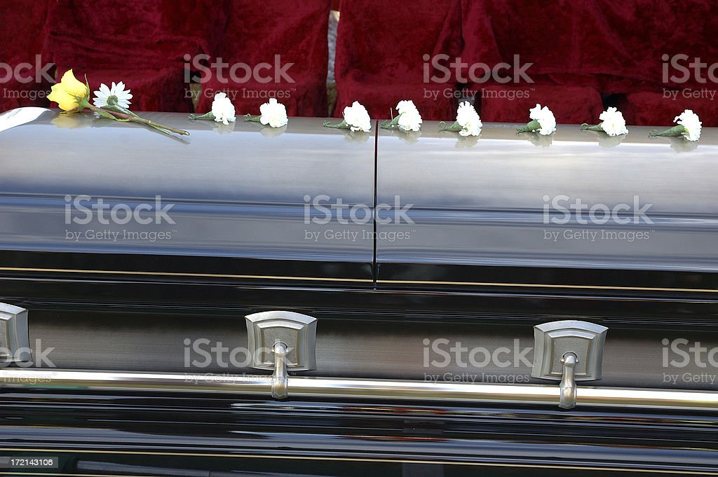 Empty Seats at a Funeral royalty-free stock photo