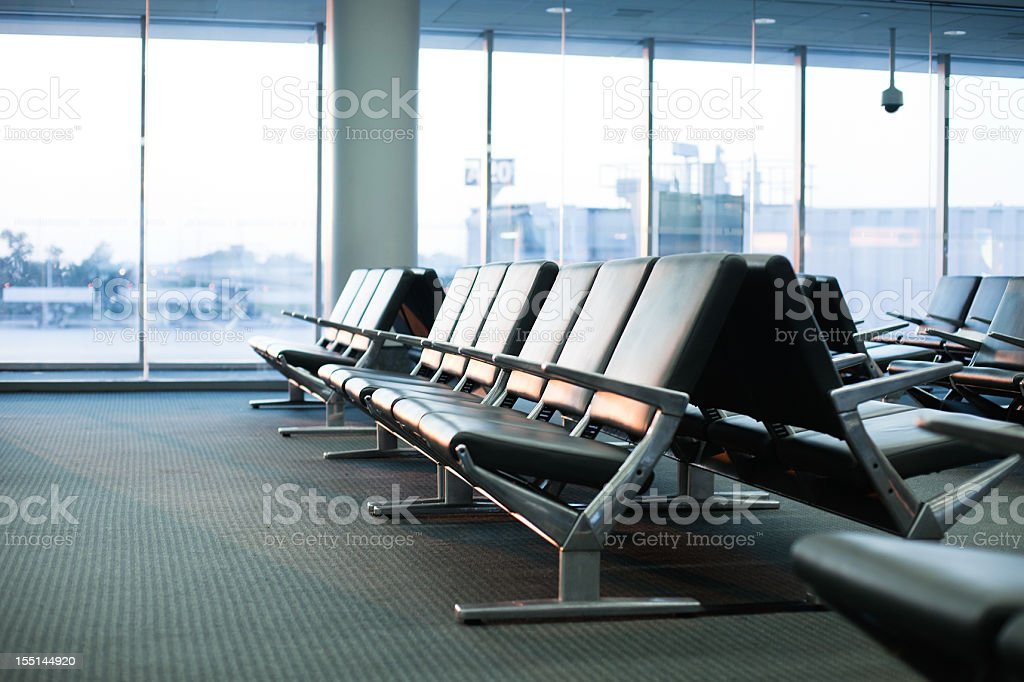 Empty Seats at airport boarding area royalty-free stock photo