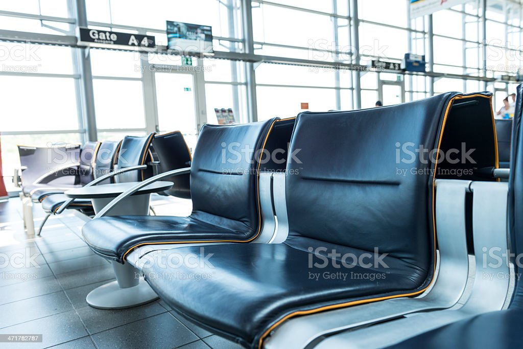 empty seats at airport lounge royalty-free stock photo