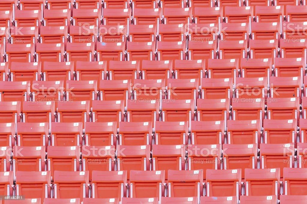 Empty seats at stadium royalty-free stock photo