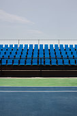 Empty Seats at Tennis Court