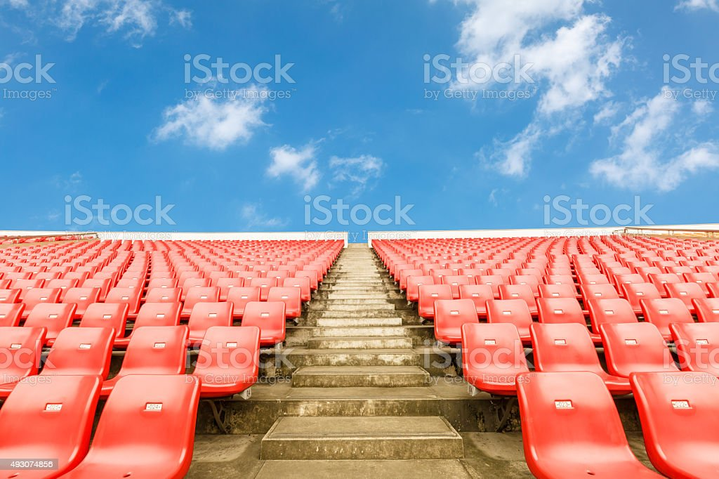 Empty seats at the Stadium stock photo