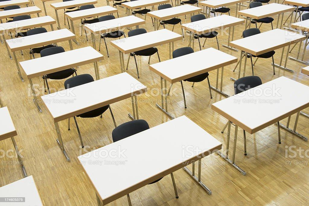 Empty seats, examination room, Seminar royalty-free stock photo
