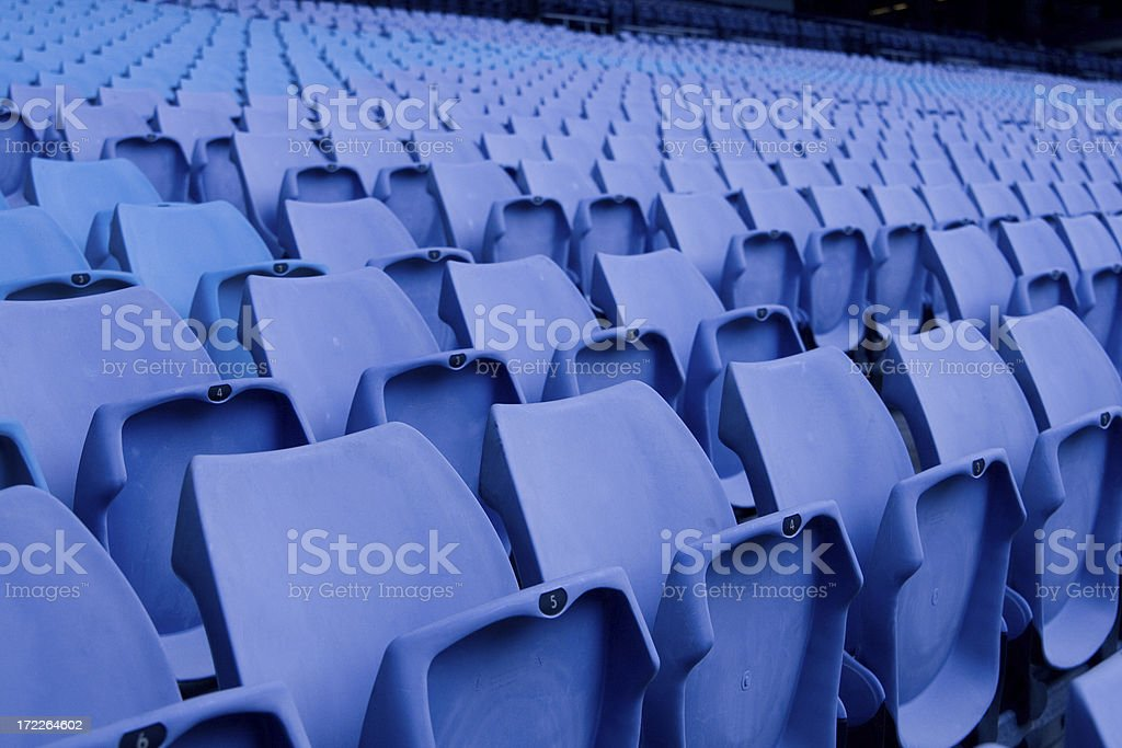 Empty seats in a sports stadium royalty-free stock photo