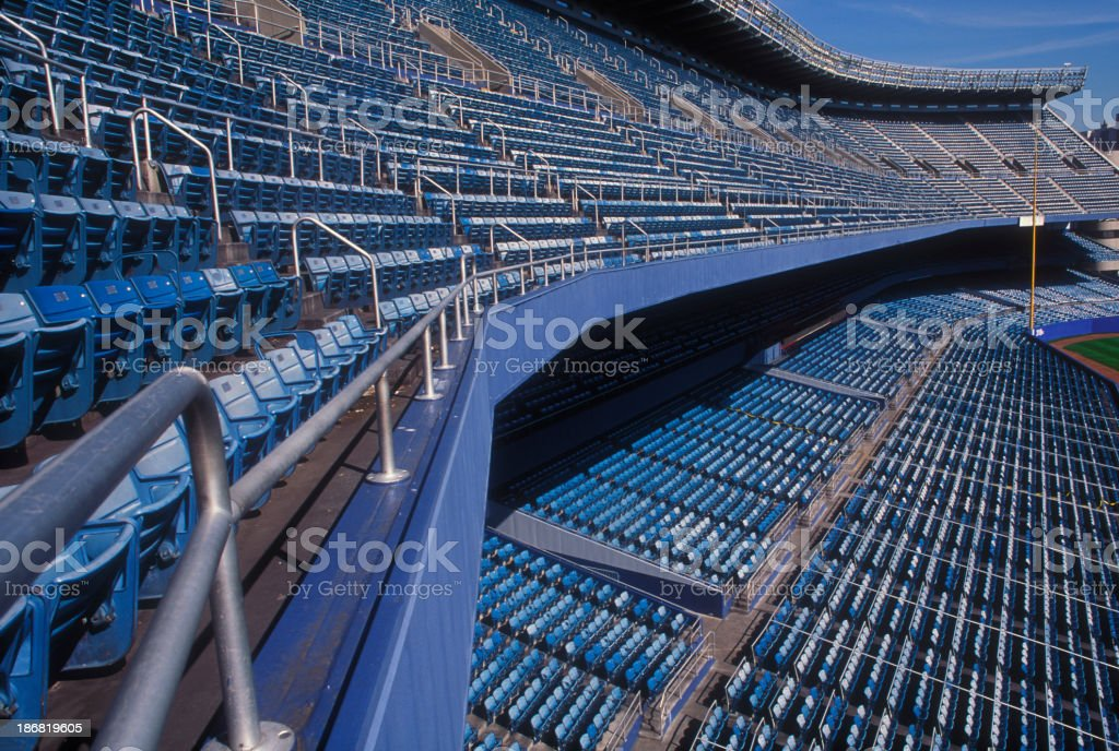 Empty seats in a stadium royalty-free stock photo