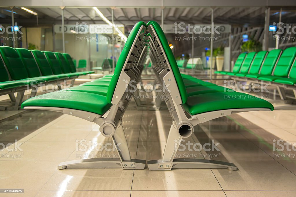 Empty seats in airport lounge royalty-free stock photo