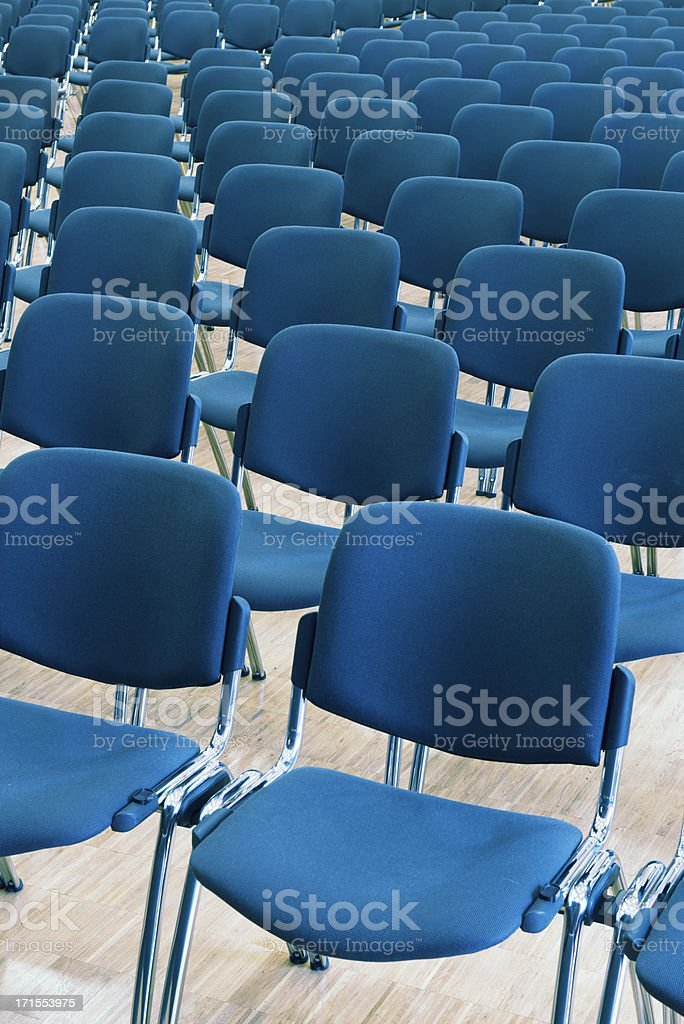 Empty seats in an  audience hall royalty-free stock photo