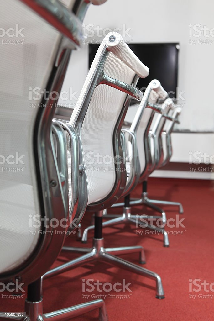 Empty seats in conference room royalty-free stock photo