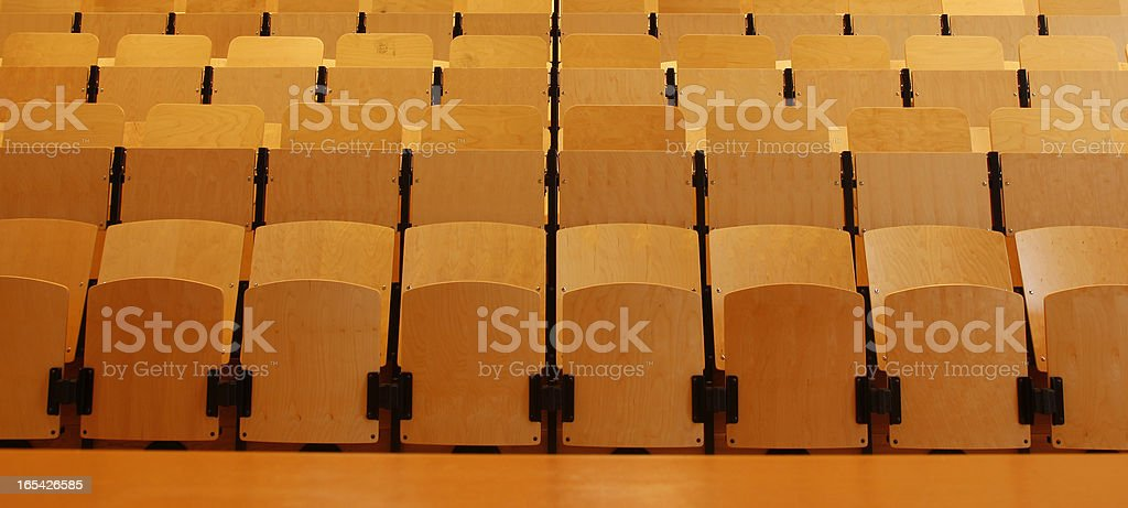 Empty seats in lecture hall royalty-free stock photo