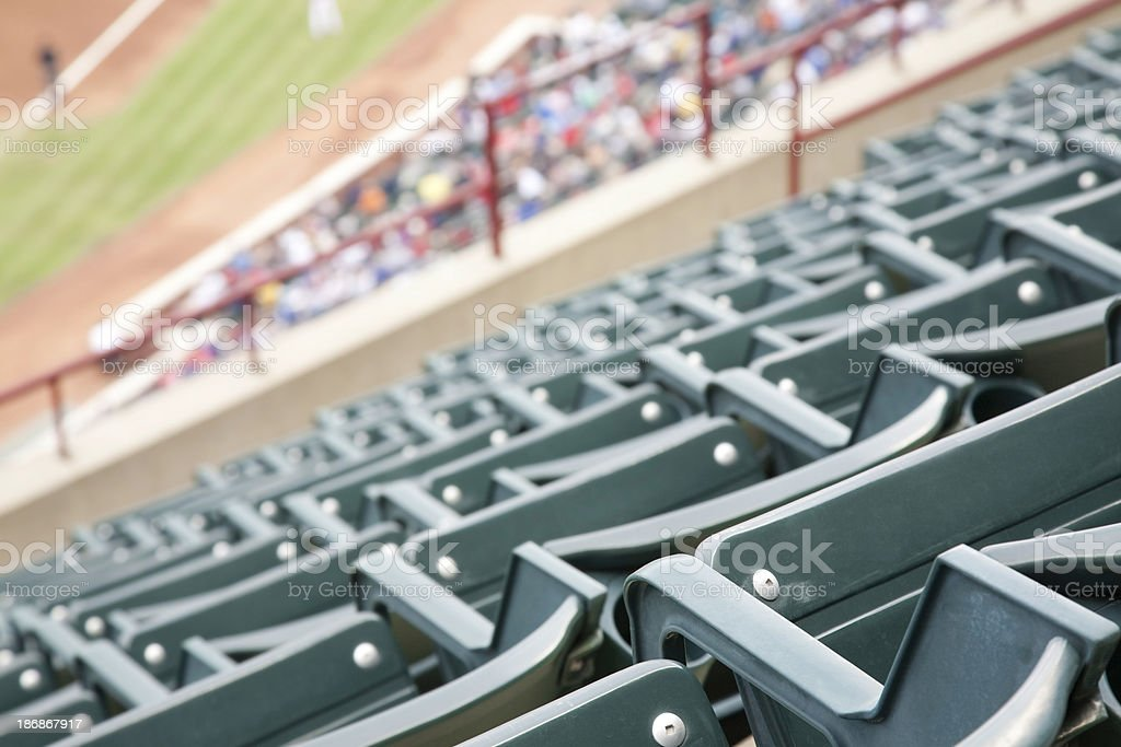 Empty Seats in Upper Deck at a Baseball Game royalty-free stock photo