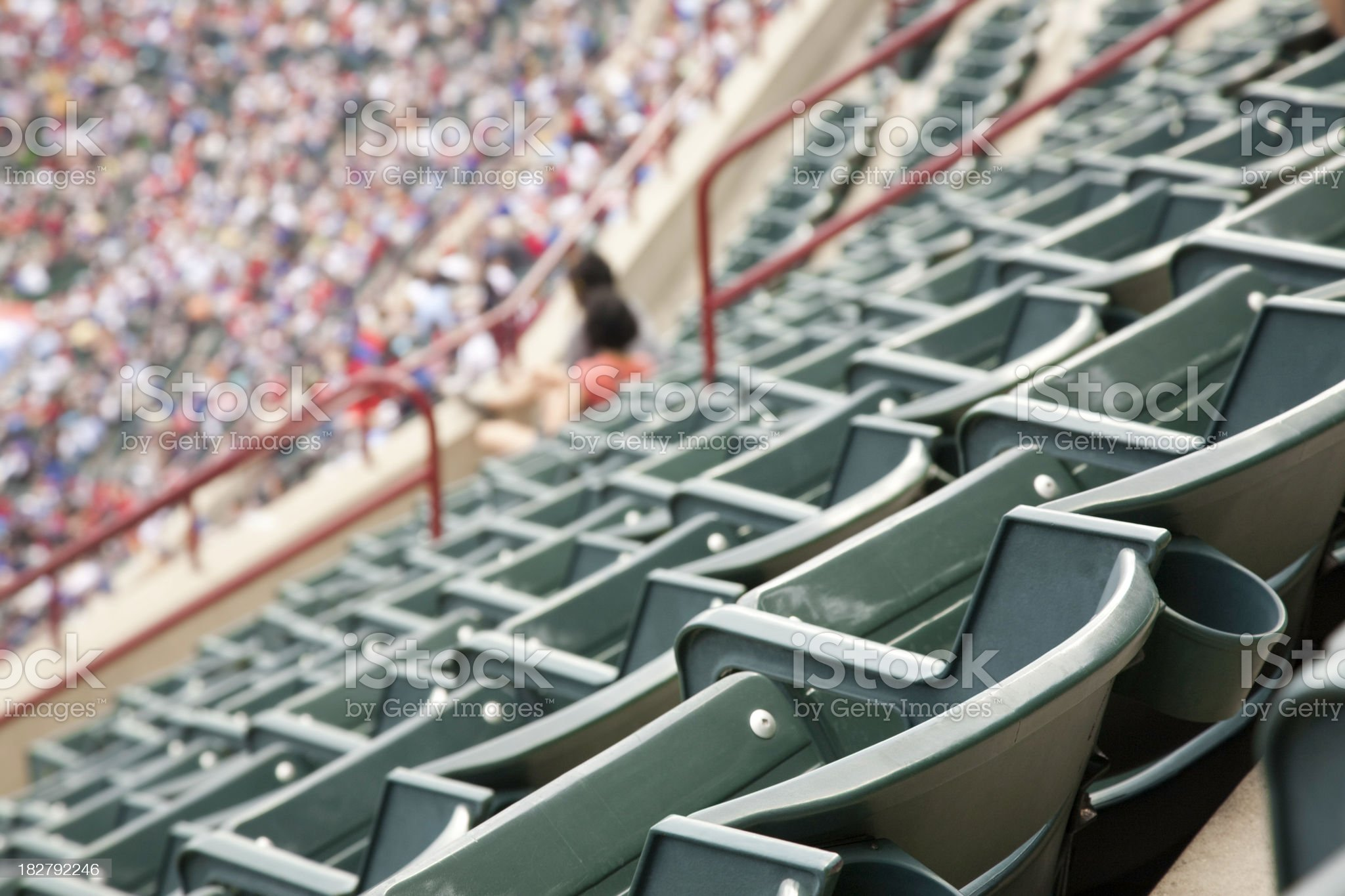 Empty Seats in Upper Deck at a Sporting Event royalty-free stock photo