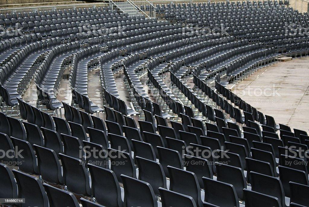 Empty seats of a stadium / amphitheater royalty-free stock photo