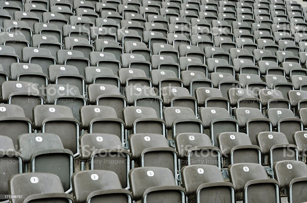 Empty seats on a tribune royalty-free stock photo
