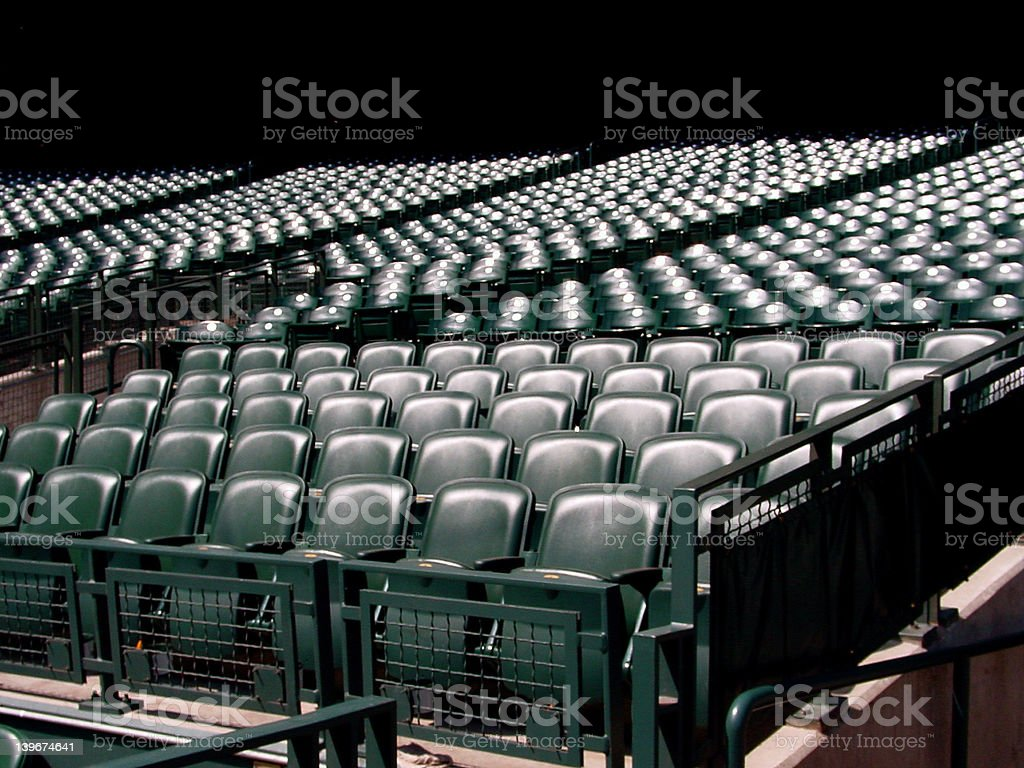 Empty Seats on an Away Game Day royalty-free stock photo