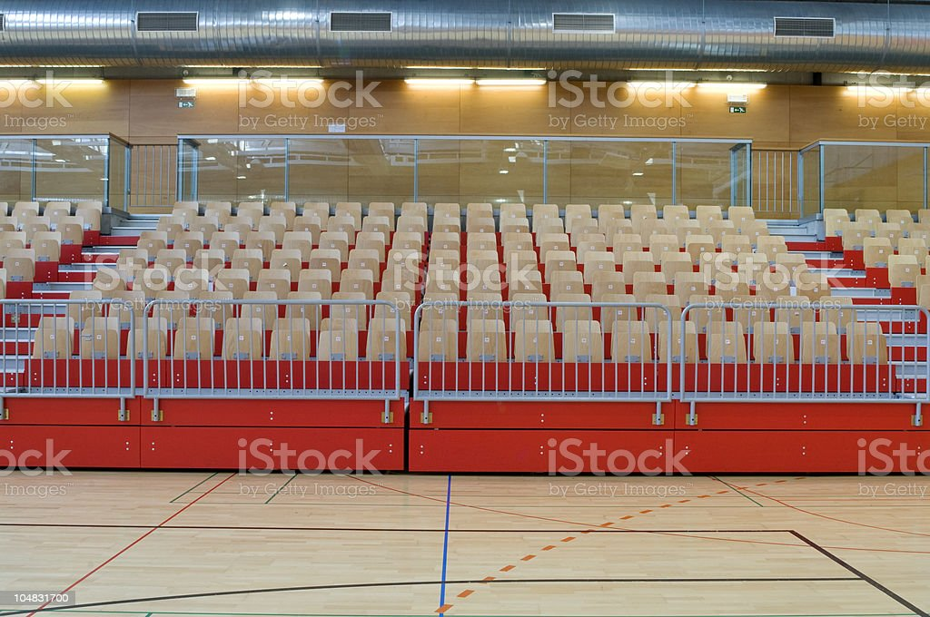 Empty Seats on Red Stand royalty-free stock photo