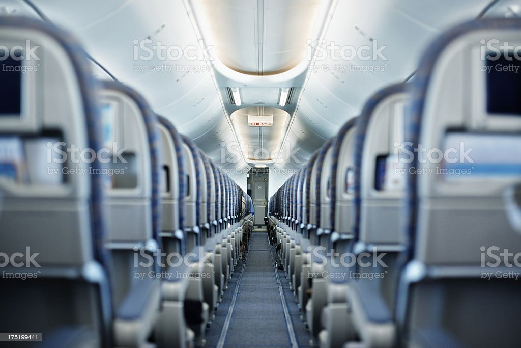 Empty seats stock photo