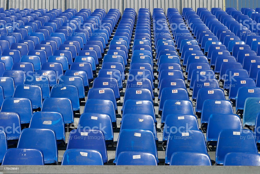 Empty seats royalty-free stock photo