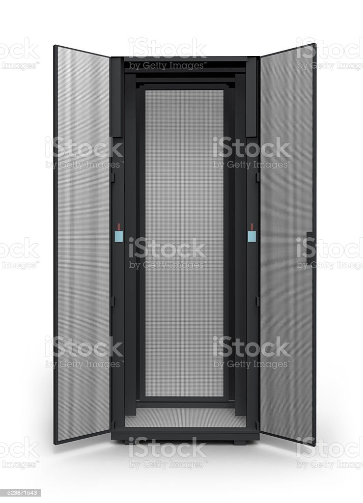 Empty server rack stock photo