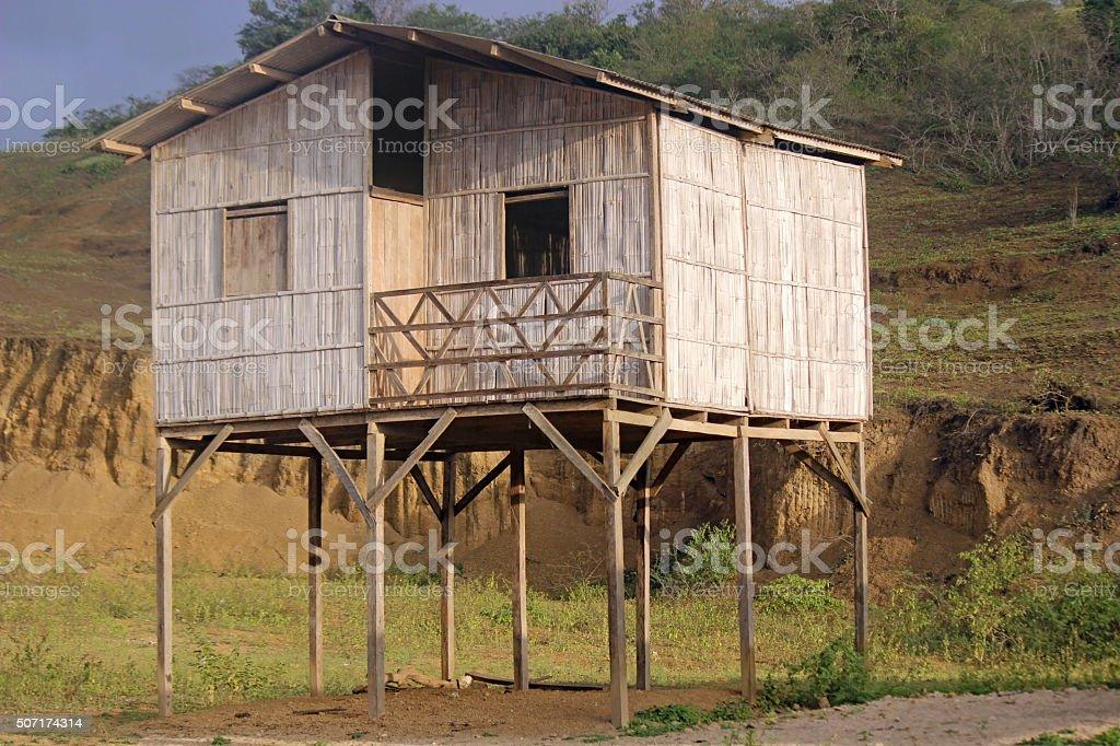 Empty Shack on Stilts, Ecuador stock photo