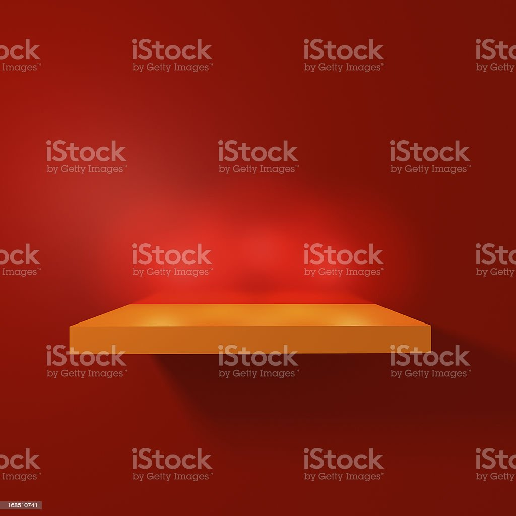 Empty Shelf stock photo