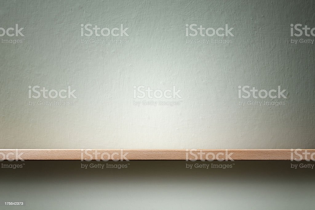 Empty shelf stock photo