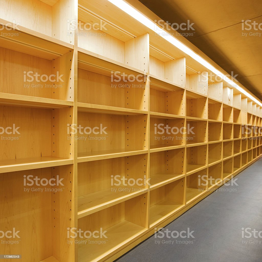Empty Shelves royalty-free stock photo