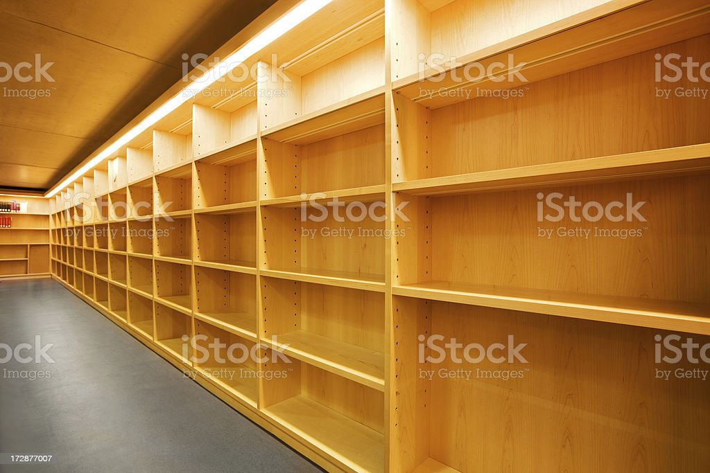 Empty Shelves royalty-free stock photo