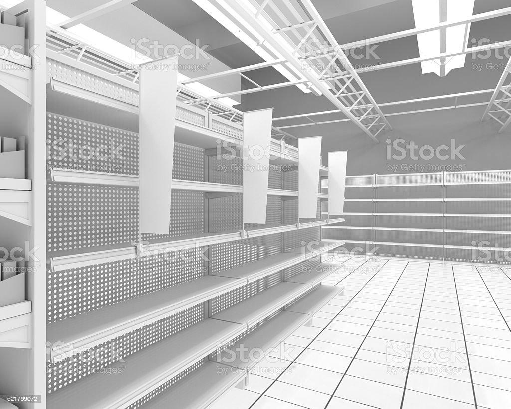 empty shelves stock photo