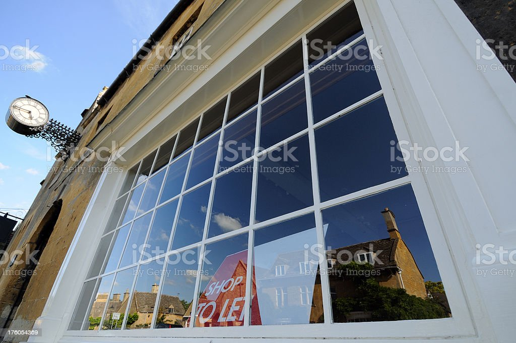 Empty Shop to Let in Worcestershire royalty-free stock photo