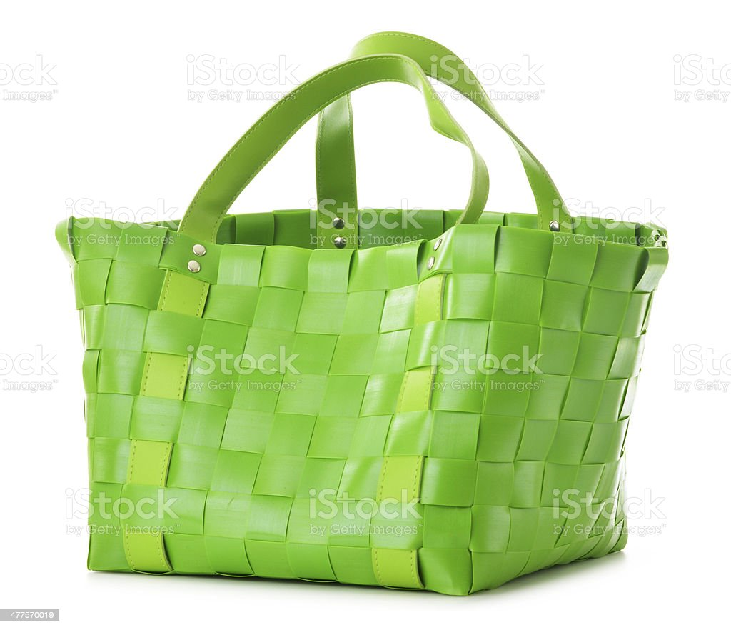 Empty shopping bag isolated on white royalty-free stock photo