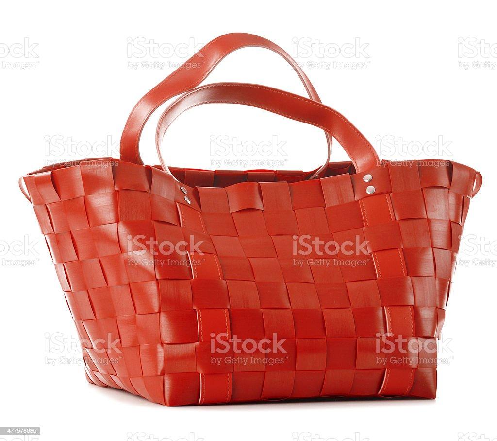 Empty shopping bag isolated on white royalty-free stock photo