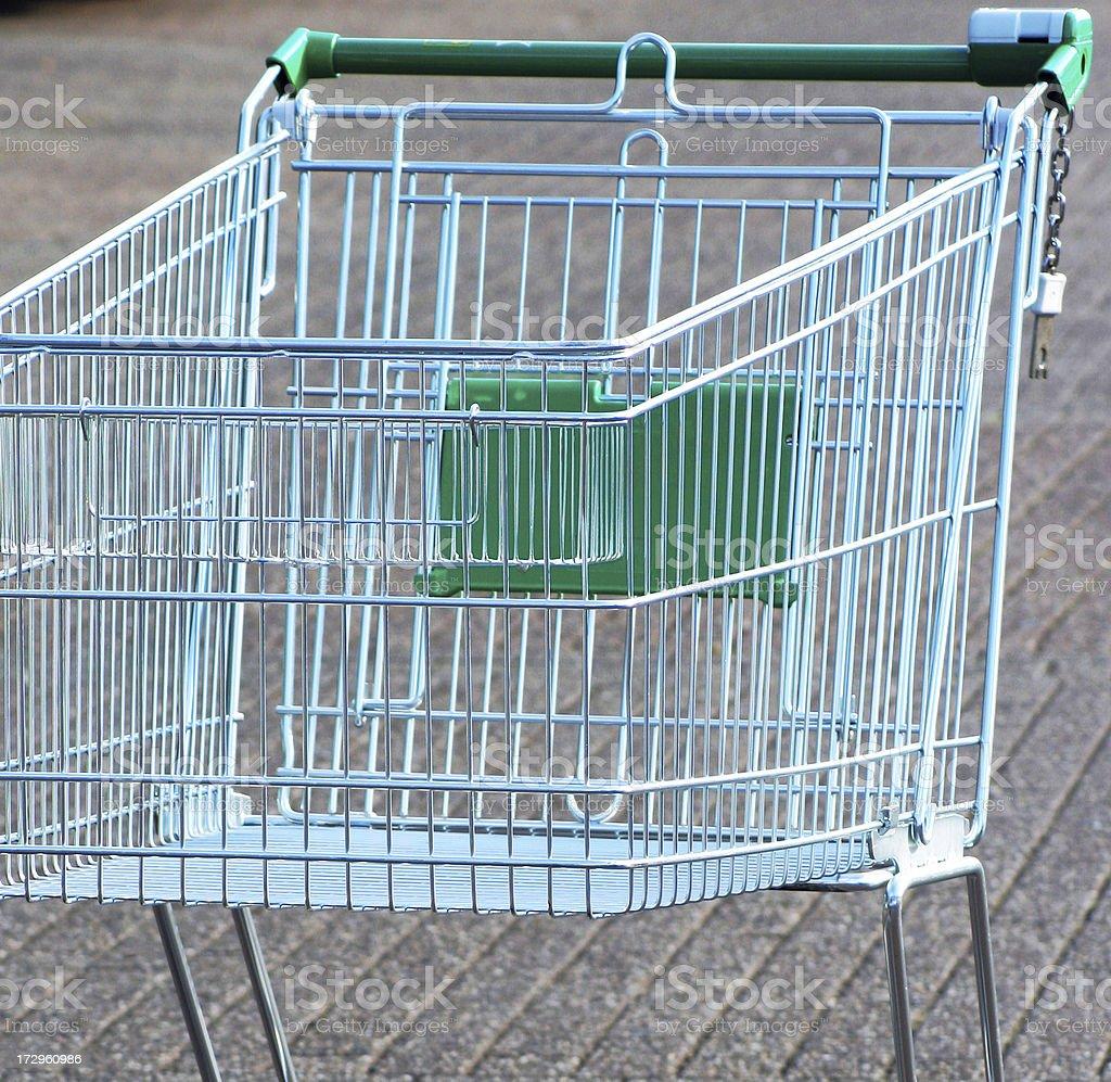 Empty shopping car royalty-free stock photo
