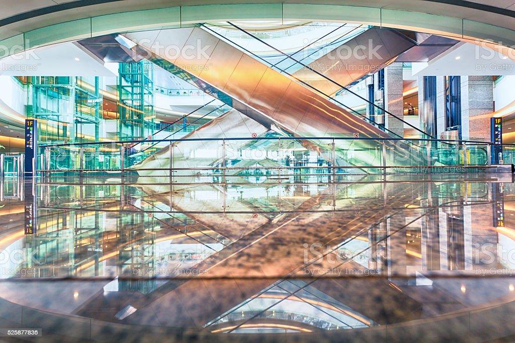 Empty shopping mall stock photo