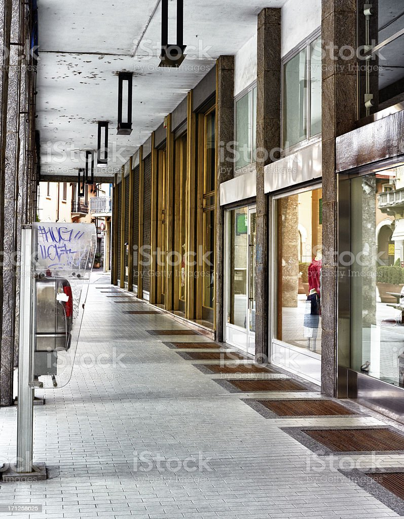 Empty shopping Street. Color Image royalty-free stock photo
