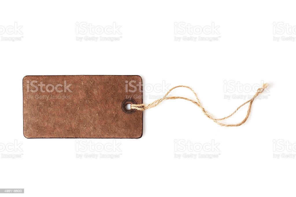 Empty shopping tag template stock photo