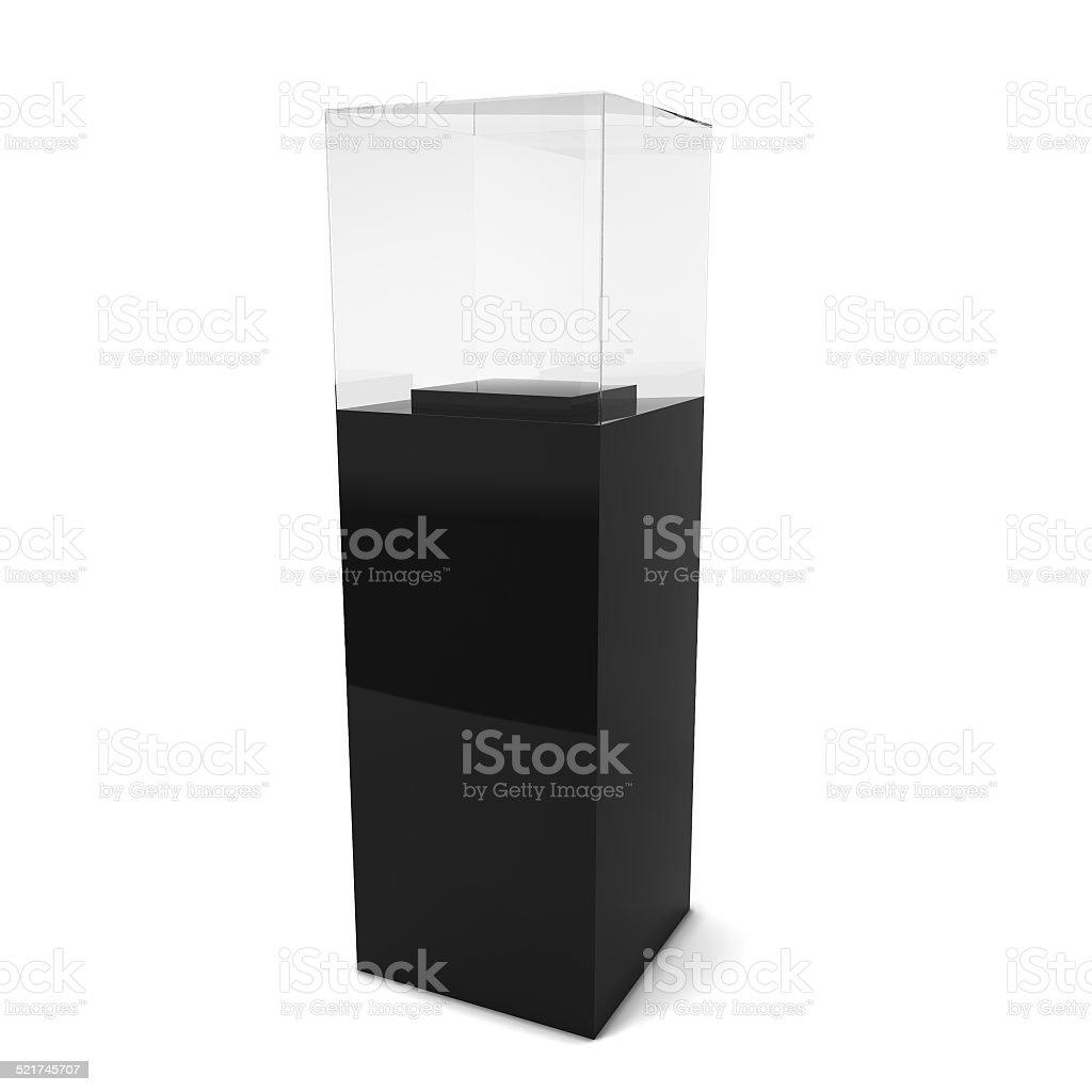 Empty showcase stock photo