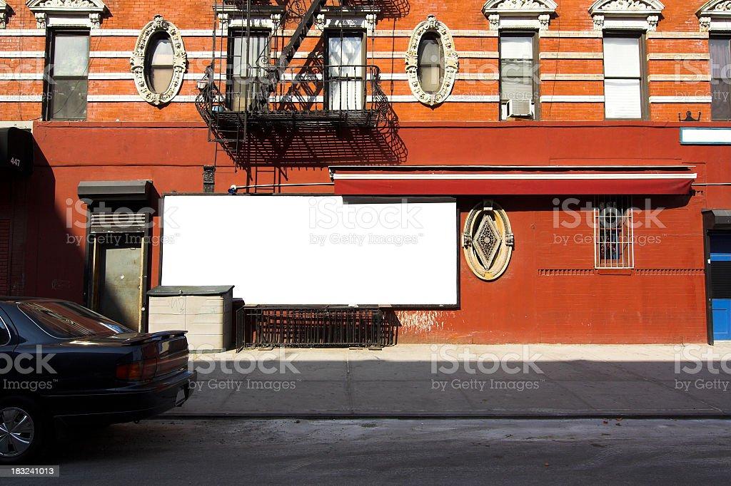 Empty Sidewalk Billboard stock photo