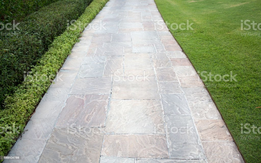 Empty sidewalk path stock photo
